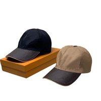 Дизайнер Летние Роскошные Кэпс Вышитые Кожаные Шляпы Для Мужчин Мода Модные Осадки Бейсболка Женщины Визуализация Gorras Кость Casquette Папа Письмо
