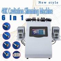 Nova Promoção 6 em 1 ultra-cavitação vácuo Radio Frequency Lipo Laser emagrecimento máquina para Spa DHL FEDEX envio