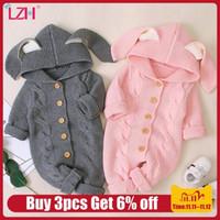 Autunno neonato cardigan con cappuccio pagliaccetti baby girl boy vestiti moda bambino costume per bambini toddler knit tuta