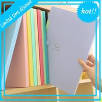 Nouveau 4 couleurs A4 Kawaii Carpetas Fournitures Fournitures Sourire Waterproof Fichier Dossier 5 couches Document Sac Papeterie de bureau
