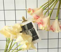 Schaumblume Calla Lilie Blütenblatt Satin Rosette Regenbogen Brautstrauß Startseite Hochzeit Dekor Mädchen romantisches Geschenk Künstliche Blüten Brosche