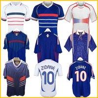 1998 Francia Retro 2010 Zidane Henry Soccer Jerseys 1996 2004 Football 1984 Camisa Trezeguet 1982 Finales 2006 Deschamps 2002 PIRES MAILLOT DE FOTBAL