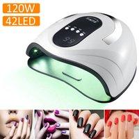 120W УФ-светодиодный лампа для ногтей портативный фототерапевтический аппарат для ногтей