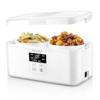 Pirinç ocakları Akıllı Otomatik Elektrikli Öğle Yemeği Kutusu Küçük Çok Fonksiyonlu Ocak Aile Randevu Zamanlama Akıllı Dokunmatik LCD Monitör1