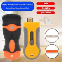 Ножные аксессуары 100 шт. Пластиковые лезвия бритвы и скребковый инструмент удаления наклейки