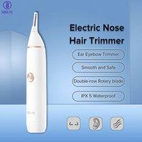 Nariz Soocas Elétrica Trimmer cabelo Ear Eyebow Balançando mini portáteis cabelo máquina de remoção impermeável Cleaner Nose Trimmer grátis