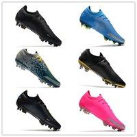 2021 Новые Мужчины Элитные Футбольные Шлеаты Phantom GT Футбольные Обувь Tech Craft Fit Кожаная Версия Водонепроницаемый Полнокоридный Оригинальный Оригинальный FG Футбольная Обувь