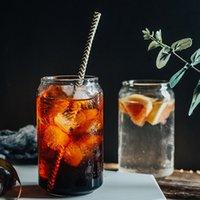 Kreative Cola Can Shaped Glasbecher Bier, Cocktail, Saft Tasse kaltes Getränk Wasser-Gläser 400ML