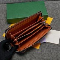 Alta calidad famosa nueva cremallera gy wallet wallet lienzo billetera larga monedero bolso de la tarjeta bolsa de dinero esta billetera tiene bolso de polvo