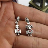Я люблю маму / я люблю папе шарм подвесные бусины подходит для браслетов ожерелья для женщин DIY ювелирных изделий