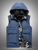 남자 조끼 오리 아래로 조끼 남자 겨울 겉옷 망 민소매 자켓 탑스 남자 코트