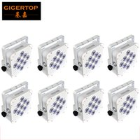 Salut-qualité 8XLOT 9x18W 6in1 RGBWA UV batterie sans fil DMX512 Slim LED Par Disco DJ éclairage 2.4G Plate-forme de contrôle à distance TP-B01