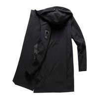 Capacas de la zanja para hombres Llegada otoño abrigo de invierno hombres casual capucha chaqueta larga masculina rompevientos Outwear jaquetil hombre más tamaño 4xl