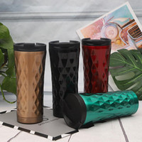 Water Bottle 500ml Fashion New Coffee Stainless Steel in 4 C...