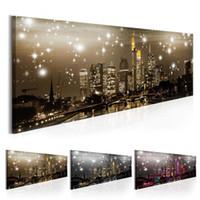 Современная ночь сцена стена искусства город здание холст живопись пейзаж печать и плакаты фотографии для гостиной спальня дома декор