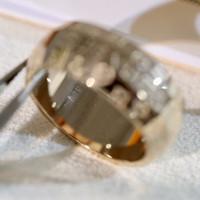 Heißer Verkauf Oval Ring Mode Druckring Für Mann oder Frauen Brief Ring Hohe Qualität Titanstahl Schmuckversorgung