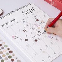 2021 Calendário de Parede Simples Planejador Mensal Semanal Agenda Calendário Planejador de Parede Agenda Organizador Diário Pendurado Escritório Home N5B2
