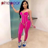 اليوغا تتسابق pineepear مثير الرياضة ارتداء مجموعة اللياقة البدنية بذلة رومبير ملابس رياضية للنساء الجري التدريب تجريب دعوى رياضية