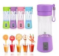 휴대용 전기 과일 과일 주스 컵 야채 감귤류 믹서 주스 추출기 아이스 분쇄기 USB 커넥터 충전식 주스 메이커