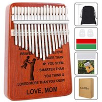 Watch Boxes & Cases Personalized Kalimba 17 Key Thumb Piano Mahogany Musical Instruments Mbira Hammer Child Beginners Portable Finger Piano1