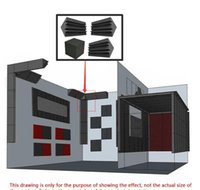 Bassfalle Schaum Wand Ecke Audio Sound Absorption Foam Studio Accessorie Acoustic Behandlungsfelder 4PSC / Set BBYXOCM LADYSHOME