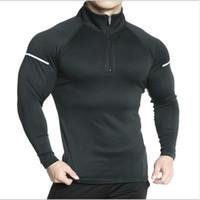 Sonbahar Yeni Moda Erkekler marka Muscle Spor Salonları Vücut Geliştirme Spor Egzersiz Hoodie Spor ceketler Kazak Kazak Coat Giyim