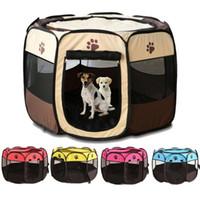 Pasta plegable portátil Casa de perro Casa de perro Perreras al aire libre para pequeños perros grandes Playpen plegable Pup Puppy CAGE CAJA DE PET DOG CRAVE
