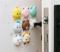 Hot Dekor Cartoon Türstopper Doorknob Gummi Fender Verschluss Schutzpolster Tür Crash Pad-Wand-Schutz-Savor Stoß- Crash Pad