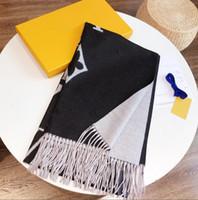 2021 Женщины Высокое Качество Пашмина украл осень зимняя шерсть шарф мягкий теплый толстый кисточка буква шарф роскошь прямоугольник печатный шаль