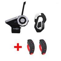 Intercom de moto T-REX + T-MAX S Casque de casque de groupe Bluetooth 1500m 8 Riders Communicator sans fil avec support FM + L3 Kit1