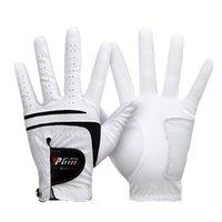 1 PCS respirável luva de golfe masculina mão esquerda super fina pano branco tamanho branco 22 # -27 # acessórios de golfe mj 201028