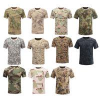 Открытый лесной охотничьи стрельба рубашки боевые платья равномерная тактика BDU армии боевая одежда хлопок камуфляжная футболка №05-104