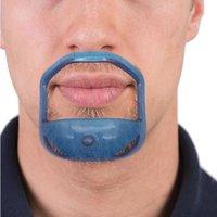 5pcs / lot Beard peigne Bargue de cheveux Sympetric Cut Salon Moustache Modèle de style Beard pour la barbe Formation de la garniture JLLZPH