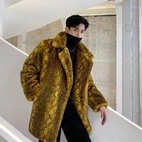 الرجال الفراء فو الرجال الشتاء سميكة سترة معطف الذكور المرأة زوجين خمر الشارع الشهير الأزياء الهيب هوب عارضة معطف فضفاضة outerwear1