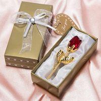 화려한 상자 파티와 패션 크리스탈 장미 호의 호의 베이비 샤워 기념품 장식품 낭만적 인 웨딩 선물 T3I51565-1