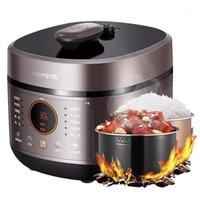 220 فولت 5l طباخ ضغط كهربائي متعدد الوظائف ذكي 5l سعة كبيرة ارتفاع ضغط مرارة مزدوجة مرارة طباخ الأرز 1