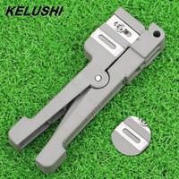Kelushi 45-162 / 3/5 Cable coaxial Stripper Fibra óptica Stripper Tubo transversal Tubo de haz de transversal abierto y pelado Cuchillo suelto