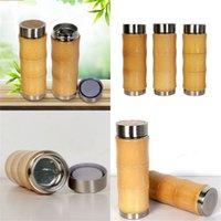 필터 스크린이있는 진공 병 스테인레스 스틸 대나무 커피 컵 여행 워터 컵 따뜻한 특수 제품 28 9JFH1