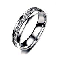 Eheringe Mode Einfache Stil Design Edelstahl Exquisite Schmuck Ring Geschenk Frauen Mädchen Party Glänzend Hohe Quanlity SZ6-121