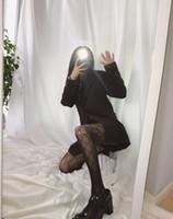Kuqi Cucci Alla moda Parigi calze di seta Scarlet Letter G Pesca Net Fun Panty Mostra calze sottili e lunghe