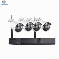 Kablosuz Kamera Kitleri DIY Wi Fi NVR Kiti 4CH Ev Güvenlik CCTV Sistemi Su Geçirmez IP Gerçek Tak ve Oyun Video Gözetim Seti