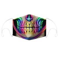 Tasarımcı Yüz Maskesi Kafatası Bayrak Dijital Spor Cadılar Bayramı Partisi Cosplay Lüks Yüz Maskeleri Kullanımlık Toz Sıcak Rüzgar Geçirmez Festival Maskesi PPD4077