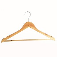 الشماعات الملابس الطبيعية شماعات زلة خشبية لحاملي المزدوج الجافة والرطبة القماش غير رف الشماعات الخشب 49 تخزين الغرض موفر معطف P2 RMEV