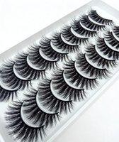 2021 Neue 10 Paare 100% Echte Nerz Wimpern 3D Natürliche falsche Wimpern Mink Wimpern Weiche Wimpern Erweiterung Make-up Kit CILIOS