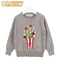 Campura Nuevo Otoño Bebé Niñas Suéter Kids Knitwear Popcorn Suéteres para niñas Baby Hecha de punto Suéter Girls Pullover Ropa LJ201008