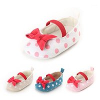 Sweet Baby Girl Princess Dot Shoes Made Toddler Soft Sole Crib Shoes Prewalker 0-18м1