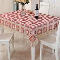 테이블 천으로 레이스 수 놓은 플래그 러너 식탁보 수건 세트 크리스마스 커버 자카드 시리즈 홈 인테리어