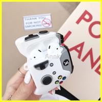 Airpods حالة، لAirpods 1 2 3 برو الجديد PS4 تصميم ألعاب أبيض أسود الحال بالنسبة لسماعة حالة سماعة لاسلكية