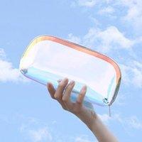 Kozmetik Çanta Kılıfları Moda TPU Lazer Çanta Su Geçirmez Renkli Depolama Büyük Kapasiteli Çok Fonksiyonlu Üç Parçalı Clutc