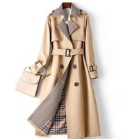 New trench coat women Removable European and American style ...